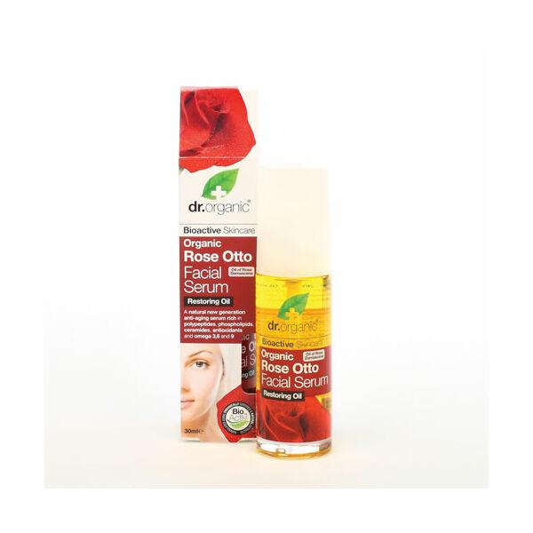 Dr. Organic bio rózsa regeneráló arcszérum száraz bőrre