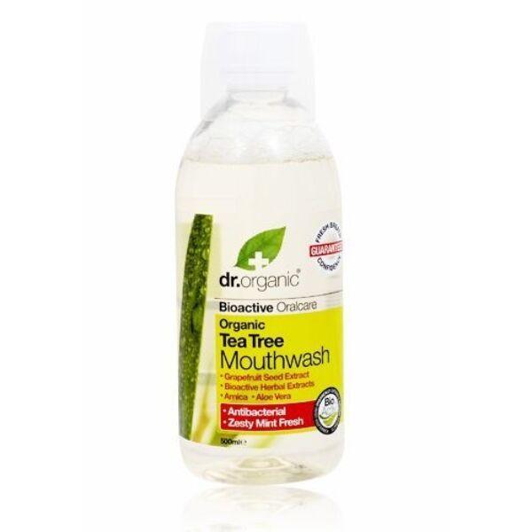 Dr. Organic bio teafa szájvíz aloe verával és grapefruittal - 500 ml