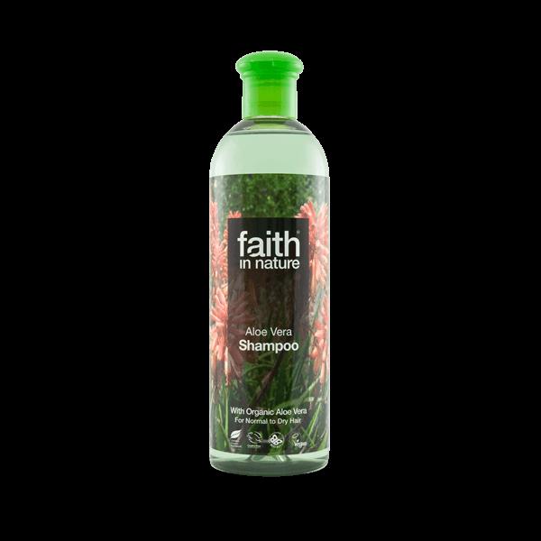 Faith in Nature bio aloe vera natúr sampon normál és száraz hajra - SLS-mentes