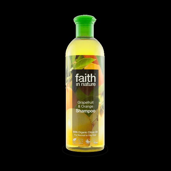 Faith in Nature bio grapefruit és narancs natúr sampon zsíros hajra - SLS-mentes