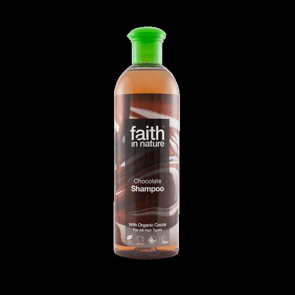 Faith in Nature bio kakaó (csokoládé) natúr sampon zsíros hajra - SLS-mentes
