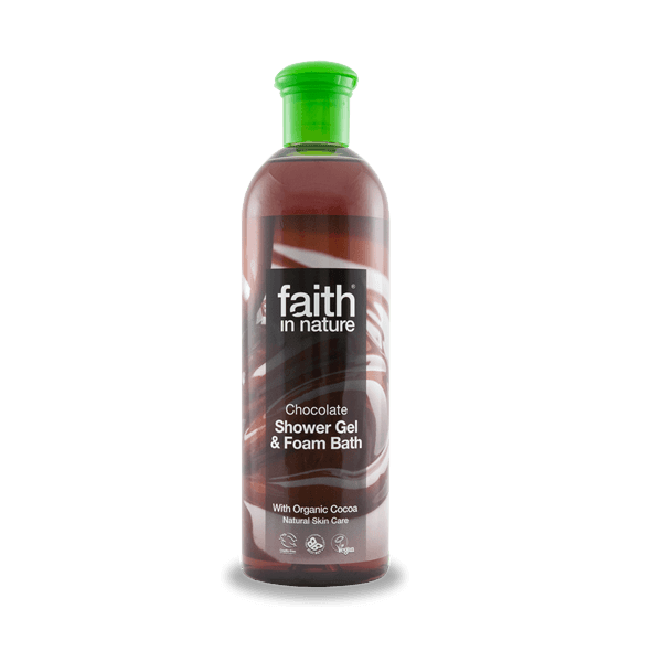 Faith in Nature bio kakaó natúr tusfürdő vaníliával - Parabén és SLS mentes
