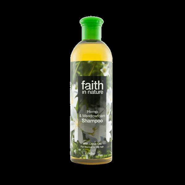 Faith in Nature bio kender és tajtékvirág dúsító natúr sampon - SLS-mentes