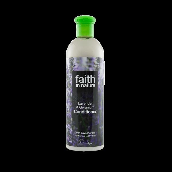 Faith in Nature levendula & geránium (rózsa) hajbalzsam illóolajokkal - 250 ml