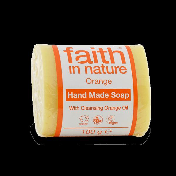 Faith in Nature narancs kézműves natúr szappan - 100 g