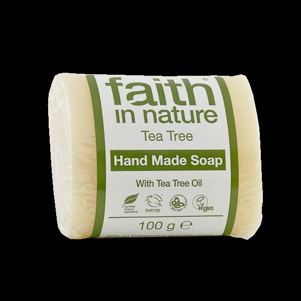 Faith in Nature teafa kézműves natúr szappan - 100 g