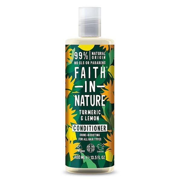 Faith in Nature natúr kurkuma és citrom hajkondícionáló - parabén- és SLS-mentes