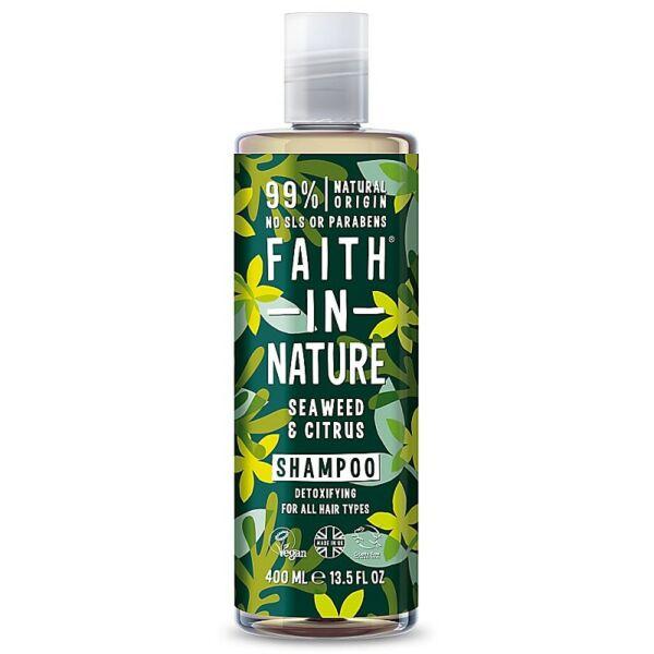 Faith in Nature natúr tengeri hínár és citrus sampon - parabén- és SLS-mentes