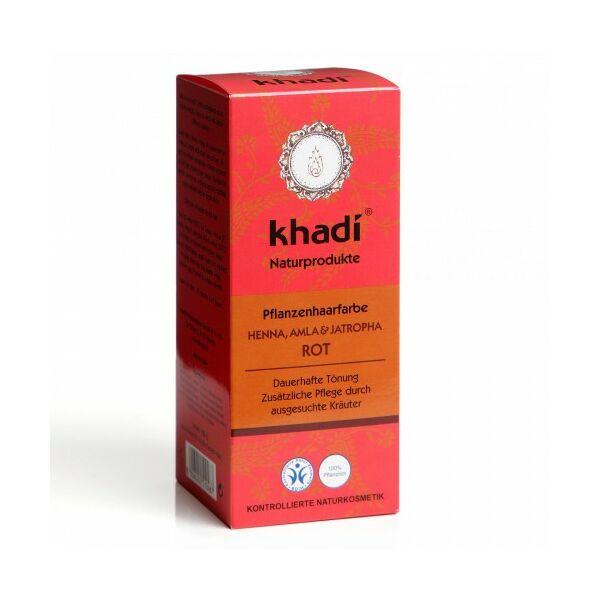 Khadi natúr hajfesték por vörös