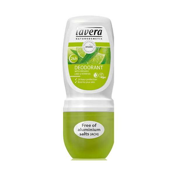 Lavera body spa vasfű-lime golyós dezodor - alumínium-mentes