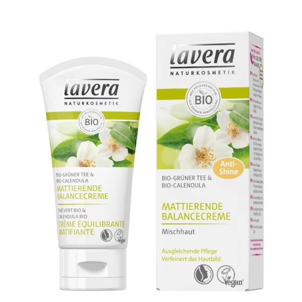 Lavera bio zöld tea nappali natúr arckrém zsíros bőrre és vegyes bőrre