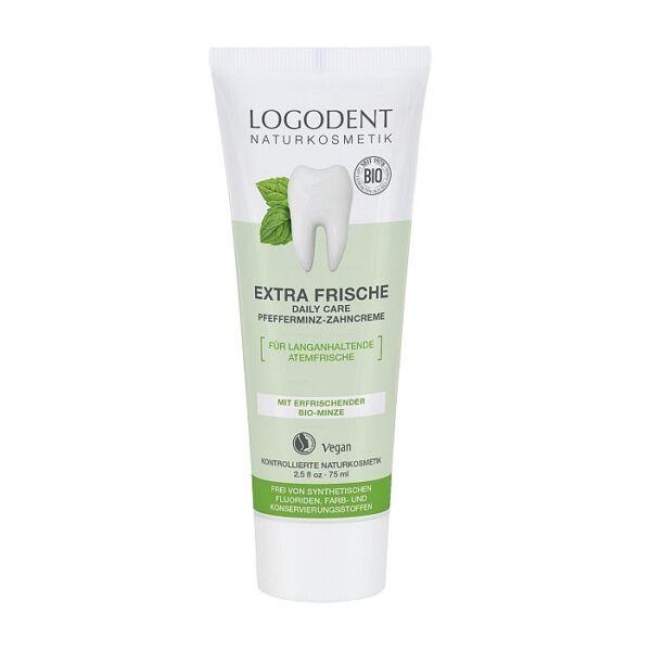 Logodent extra fresh borsmenta bio fogkrém - fluoridmentes