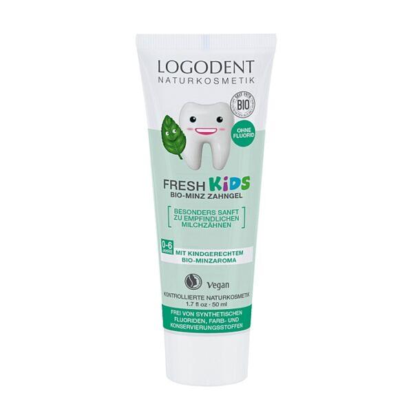 Logodent bio fodormenta gyerek fogkrém - fluoridmentes