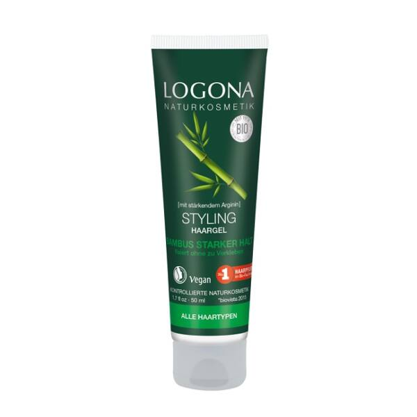 Logona bambusz-nyírfa natúr hajformázó gél - 50 ml