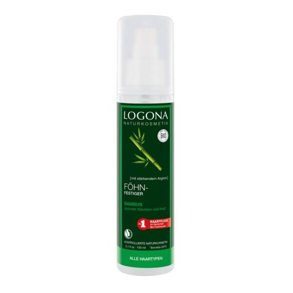 Logona bambusz-nyírfa natúr hajformázó spray hajszárításhoz - 150 ml