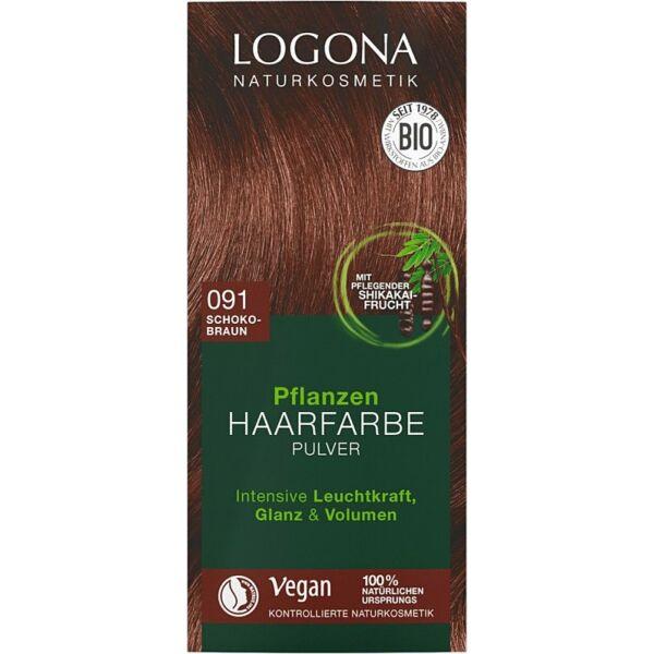 Logona bio növényi hajfesték por - csokoládé barna
