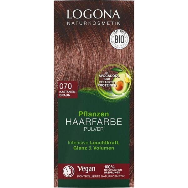 Logona bio növényi hajfesték por - gesztenye barna