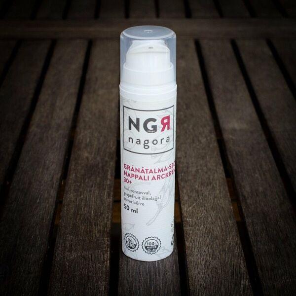 Nagora bio gránátalma-szőlő nappali arckrém 30+ száraz bőrre