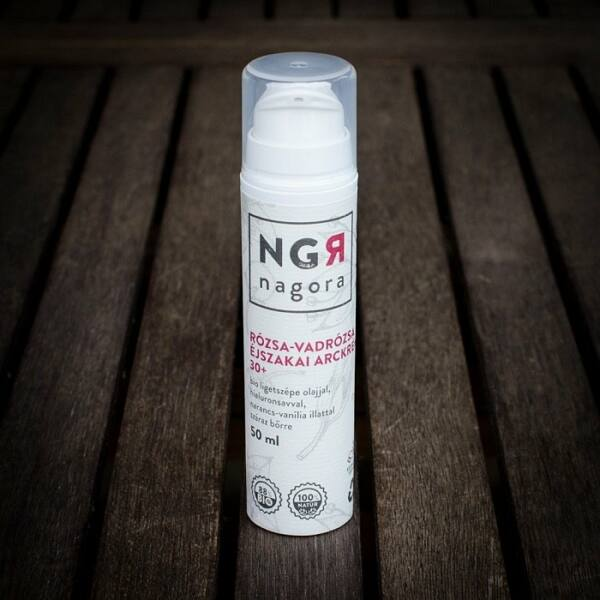 Nagora bio rózsa-vadrózsa éjszakai arckrém 30+ száraz bőrre