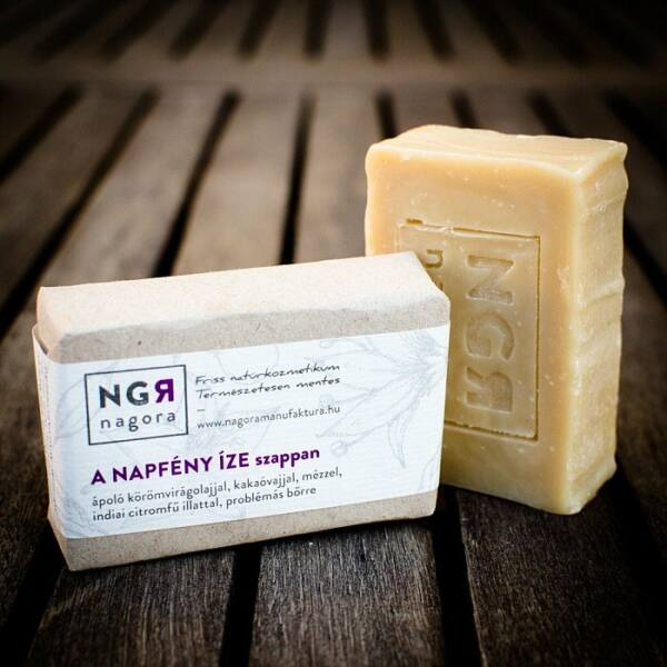 Nagora A Napfény Íze natúr szappan bio citromfűvel