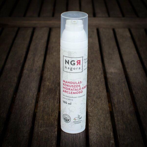 Nagora bio mandula-kókusz hidratáló arclemosó krém száraz és normál bőrre
