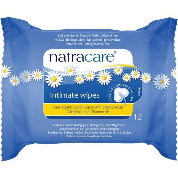 Natracare bio női intim törlőkendő