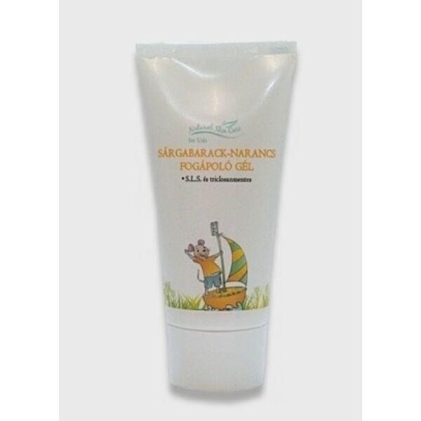 Natural skin care gyerek natúr fogápoló sárgabarack és narancs