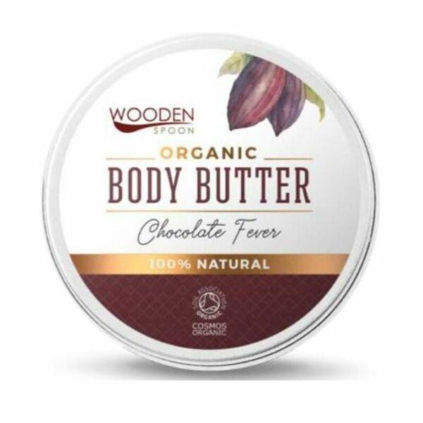 Wooden Spoon MINI csokoládé bio testvaj shea vajjal és kakaóvajjal- 15 ml